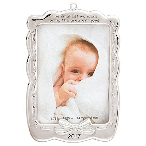 Carlton Heirloom Ornament 2017 Baby's First Christmas – Photo Holder – #CXOR010M
