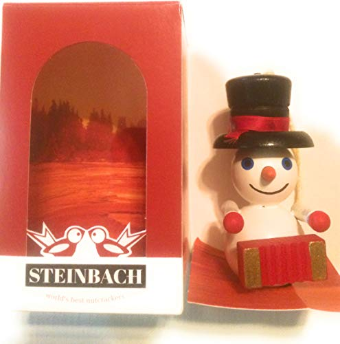 Steinbach German Christmas Ornaments Accordian Musician Snowman