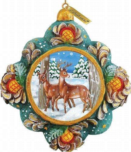 G. Debrekht Wilderness Scenic Ornament, 3.5″
