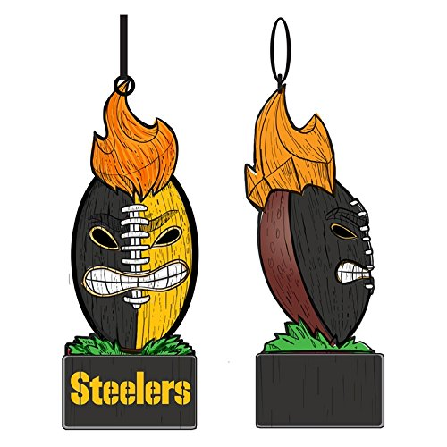 Team Sports America Pittsburgh Steelers Lit Team Tiki Ball Ornament