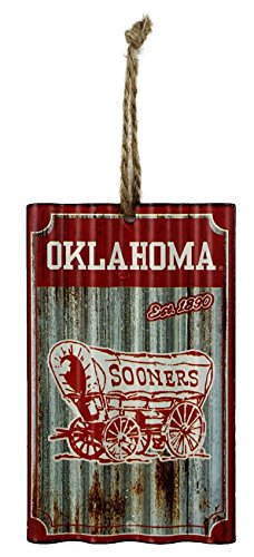 Party Explosions University of Oklahoma Football Corrugate Hanging Sports Ornament