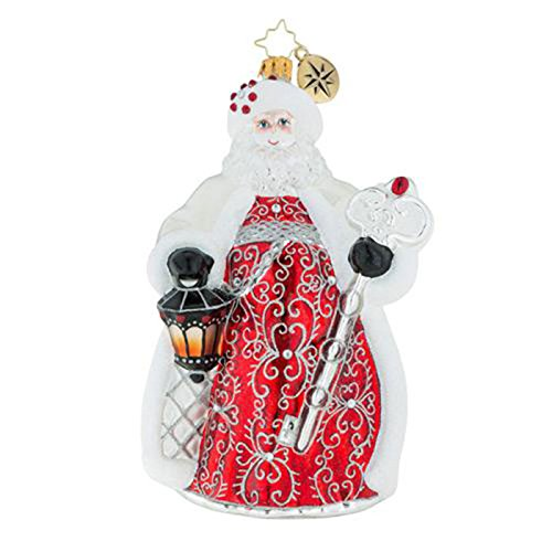 Christopher Radko Simply Spectacular Santa Glass Ornament
