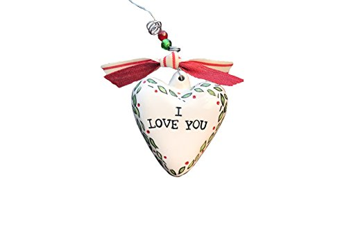Glory Haus I Love You Puff Heart Ornament, Multicolor