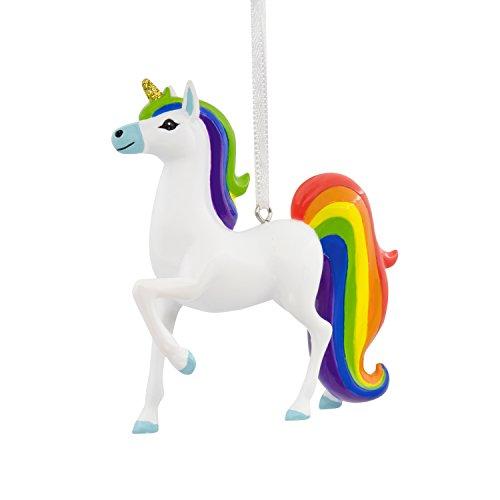 Hallmark Unicorn With Rainbow Mane Christmas Ornament Exclusive