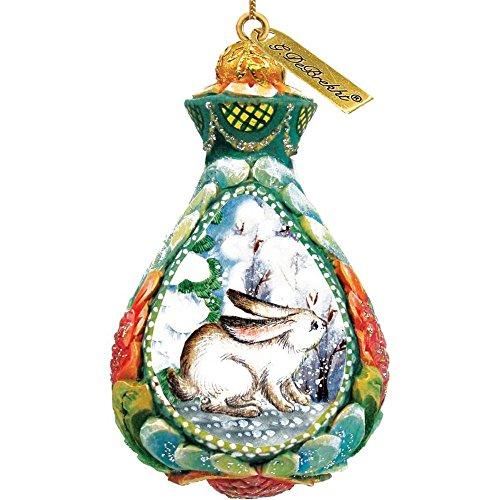 G. Debrekht Winter Bunny Ornament, 2.5-Inch