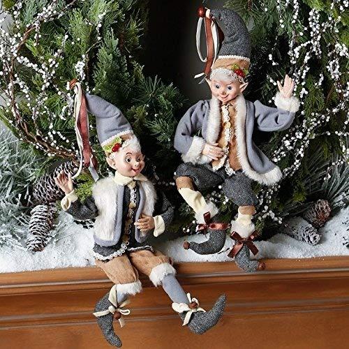 17.5″ Woodland Posable Elf Set