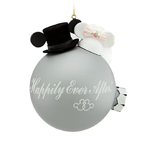 Disney Minnie and Mickey Mouse Wedding Ornament Happily Ever After