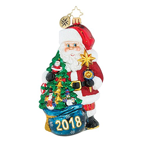 Christopher Radko 2018 Is In The Bag Dated Christmas Ornament