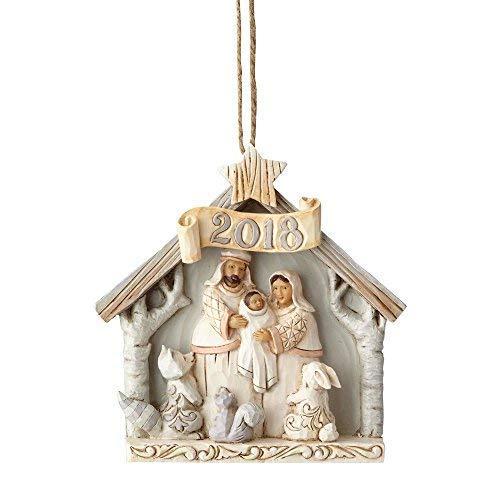 Enesco Jim Shore Heartwood Creek White Woodland 2018 Nativity Ornament