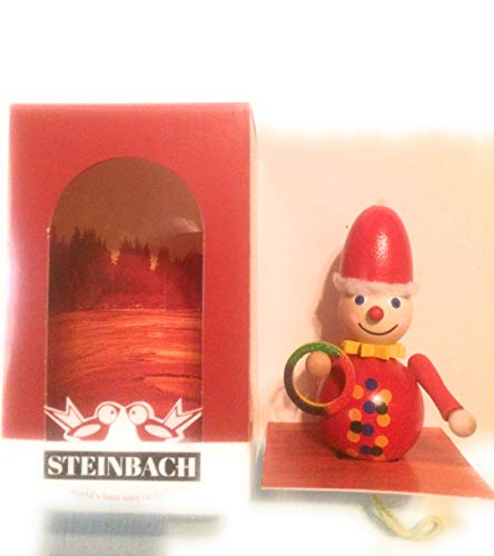 Steinbach German Christmas Ornaments Clown Ring Hoop