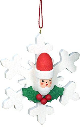"Alexander Taron Importer 10-0826 – Christian Ulbricht Ornament – Santa on Snowflake – 2.5″"" H x 2.5″"" W x .75″"" D"