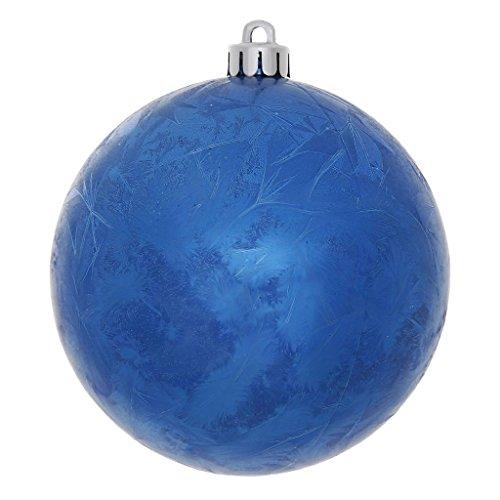 Vickerman 34404 – 6″ Blue Crackle Ball Christmas Tree Ornament (4 pack) (N141302DV)