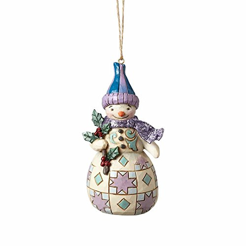 Enesco-Gift 4058750 Wonderland Snowman with Holly Ornament, Multicolor
