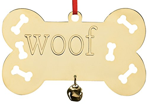 Miles Kimball Personalized Woof Brass Ornament