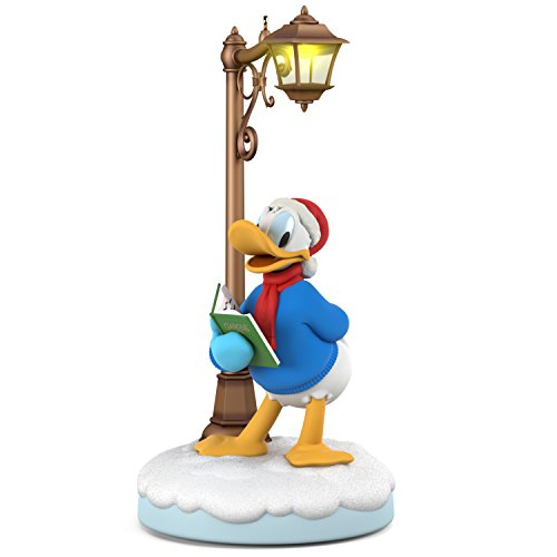 Hallmark Keepsake Christmas Ornament 2018 Year Dated, Disney Christmas Carolers Jolly Donald with Music, Light and Motion