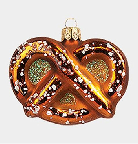 Pinnacle Peak Trading Company Oktoberfest Mini Salted Pretzel Polish Glass Christmas Ornament Food Decoration