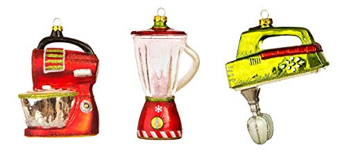 One Hundred 80 Degrees Blender Mixer and Hand Held Mixer Christmas Holiday Ornaments Set of 3