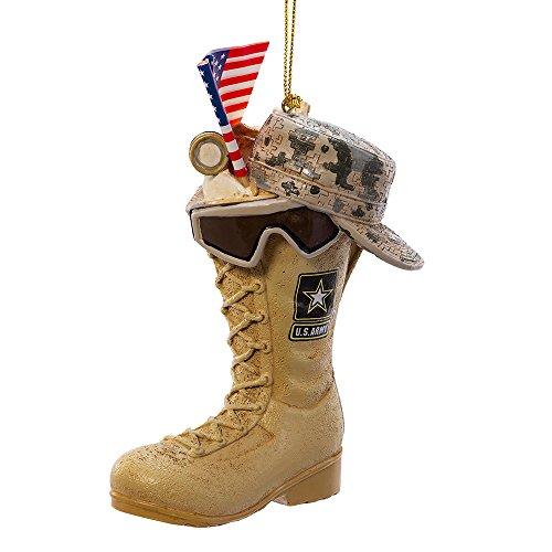 Kurt Adler 4.75-Inch Army Boot Ornament