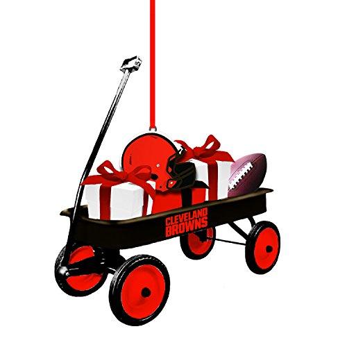 Team Sports America Cleveland Browns NFL Team Wagon Ornament