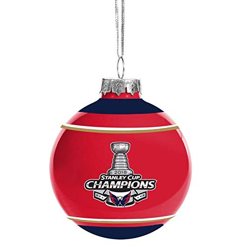 Forever Collectibles Washington Capitals 2018 Stanley Cup Champions Glass Ball Christmas Ornament