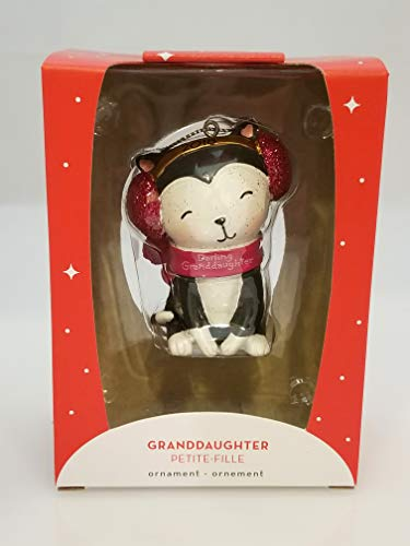 Carlton Heirlom Ornament 2018 Granddaughter – Darling Kitten – #CXOR020O