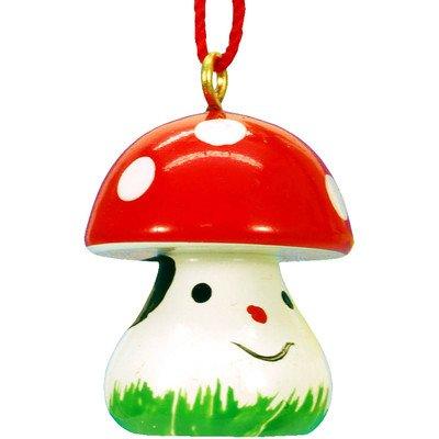 "Alexander Taron Importer 13-0268 – Christian Ulbricht Ornament – Mushroom with Face – 1″"" H x .75″"" W x .75″"" D"