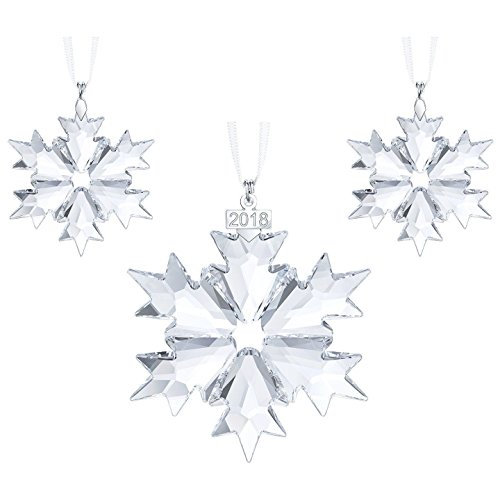 Swarovski Annual Edition Ornament Set, A. E. 2018, Clear Crystal