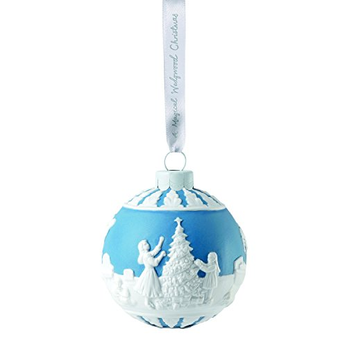 Wedgwood 2018 Annual Holiday Ornament Dressing The Christmas Tree, Blue
