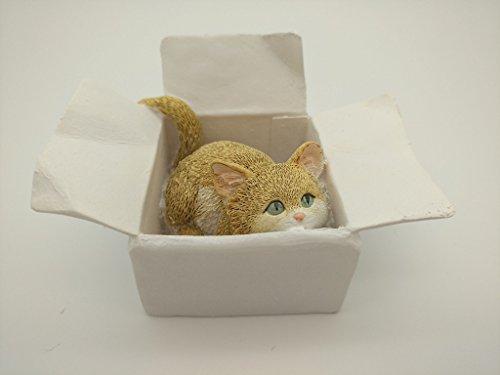 Gemmia Cat Fairy Figurine Ornament- Box yellow cat
