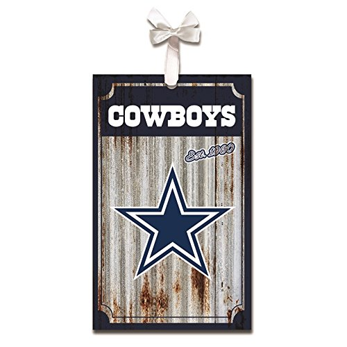 Team Sports America Dallas Cowboys, Metal Corrugate Ornament, Set of 4