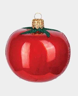 Pinnacle Peak Trading Company Tomato Polish Mouth Blown Glass Christmas Ornament Kitchen Tree Decoration