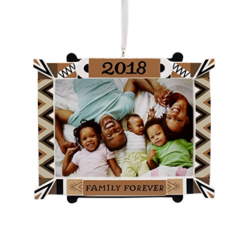 Hallmark Mahogany Christmas Ornament 2018 Year Dated, Family Picture Frame, Photo Frame Forever