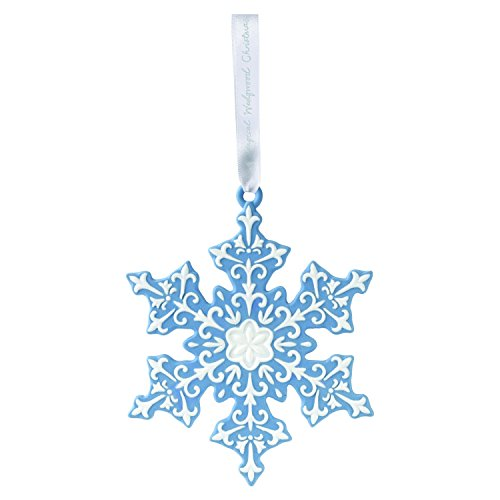 Wedgwood 2018 Annual Holiday Ornament Figural Snowflake, Blue