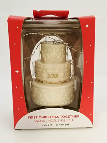 Carlton Ornament 2018 First Christmas Together – Porcelain Wedding Cake CXOR001O