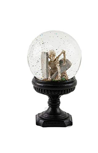 One Hundred 80 Degrees Skeleton Crystal Ball on Pedestal