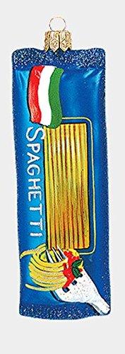 Pinnacle Peak Trading Company Bag of Spaghetti Pasta Noodles Polish Glass Christmas Ornament Decoration