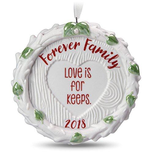 Hallmark Keepsake Christmas Ornament 2018 Year Dated, Forever Family, Porcelain