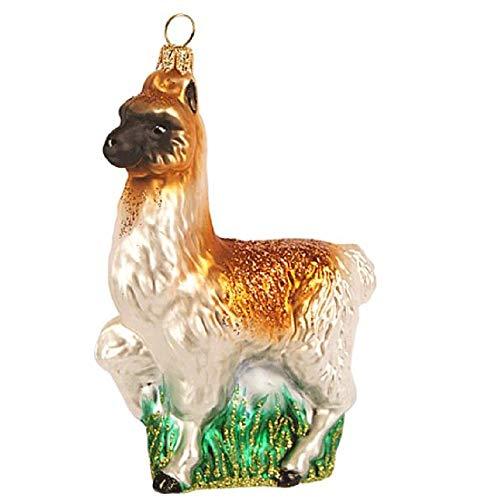 Pinnacle Peak Trading Company Llama Polish Glass Christmas Tree Ornament Animal South American Wildlife