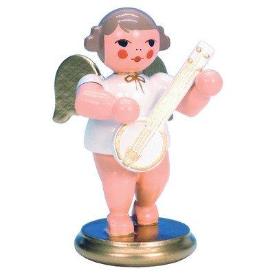 "Alexander Taron Importer 31336 – Christian Ulbricht Ornament Angel musician with banjo – 2.5″"" H x 1.5″"" W x 1.5″"" D"