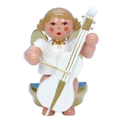 "Alexander Taron Importer 31360 – Christian Ulbricht Ornament Angel musician with cello – 2.5″"" H x 1.5″"" W x 2″"" D"