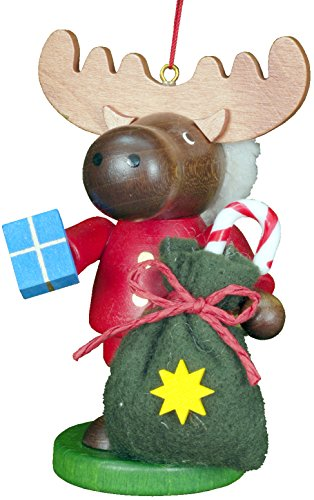 Alexander Taron Importer 13-0809 This Little Roamer Santa Elk Has Lots of Laughs for You. Made by Christian Ulbricht in Germany of Wood