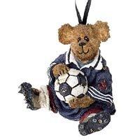 Boyds Bears Resin PENDLETON GOAL SCORE ORNAMENT 25738 RFB Christmas Soccer Bearstone New