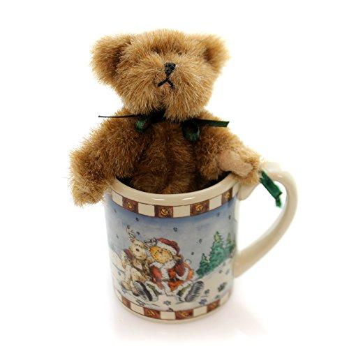 BOYDS BEARS PLUSH Lil ' Mugs O' HUGS Set Fabric Christmas Teddy Bear 562900