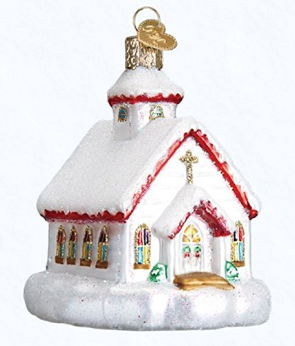Old World Christmas Glass Blown Ornament Country Church