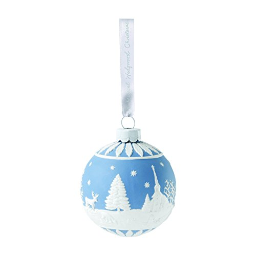 Wedgwood 2018 Annual Holiday Ornament Winter Scene, Blue
