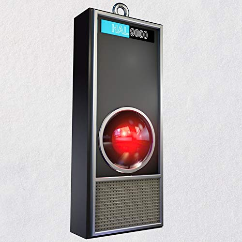 Hallmark Keepsake Christmas Ornament 2018 Year Dated, 2001: A Space Odyssey HAL 9000 50th Anniversary with Light and Sound