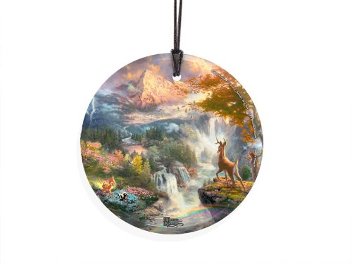 Trend Setters Disney Thomas Kinkade Bambi's First Year StarFire Prints Hanging Glass