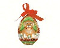 Cobane Studio LLC COBANED308 Playful Puppy Yellow Lab Ornament