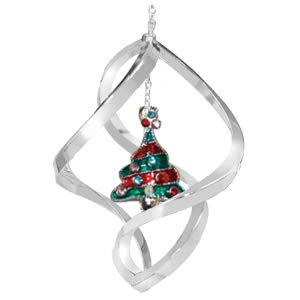 Crystal Delight by Mascot Chrome Christmas Tree Spiral Ornament – Mixed