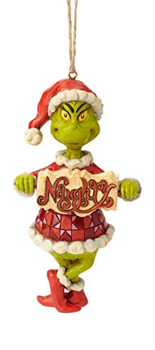 Enesco Grinch by Jim Shore 6002073 Grinch with Naughty/Nice Spinning Sign Ornament